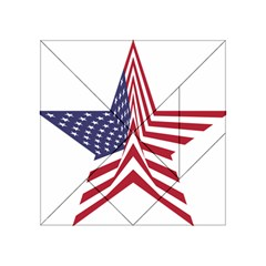 A Star With An American Flag Pattern Acrylic Tangram Puzzle (4  X 4 )