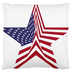 A Star With An American Flag Pattern Large Cushion Case (One Side)