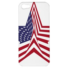 A Star With An American Flag Pattern Apple Iphone 5 Hardshell Case