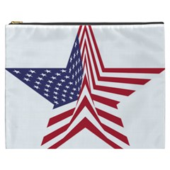 A Star With An American Flag Pattern Cosmetic Bag (xxxl)