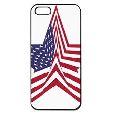 A Star With An American Flag Pattern Apple Iphone 5 Seamless Case (black)