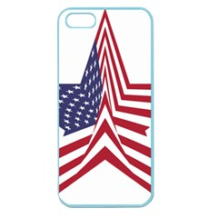 A Star With An American Flag Pattern Apple Seamless iPhone 5 Case (Color)