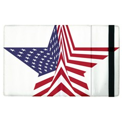 A Star With An American Flag Pattern Apple Ipad 2 Flip Case