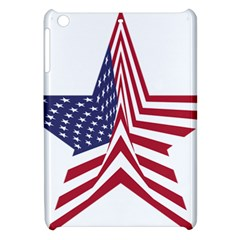 A Star With An American Flag Pattern Apple Ipad Mini Hardshell Case