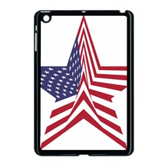 A Star With An American Flag Pattern Apple Ipad Mini Case (black)