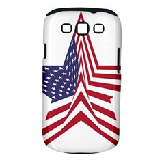 A Star With An American Flag Pattern Samsung Galaxy S III Classic Hardshell Case (PC+Silicone)