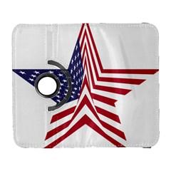 A Star With An American Flag Pattern Galaxy S3 (Flip/Folio)