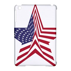 A Star With An American Flag Pattern Apple Ipad Mini Hardshell Case (compatible With Smart Cover)