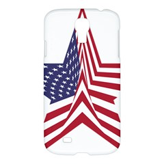 A Star With An American Flag Pattern Samsung Galaxy S4 I9500/I9505 Hardshell Case