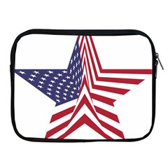 A Star With An American Flag Pattern Apple Ipad 2/3/4 Zipper Cases