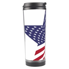 A Star With An American Flag Pattern Travel Tumbler