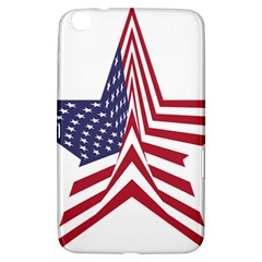 A Star With An American Flag Pattern Samsung Galaxy Tab 3 (8 ) T3100 Hardshell Case