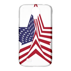A Star With An American Flag Pattern Samsung Galaxy S4 Classic Hardshell Case (pc+silicone)