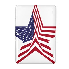 A Star With An American Flag Pattern Samsung Galaxy Tab 2 (10 1 ) P5100 Hardshell Case