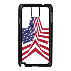 A Star With An American Flag Pattern Samsung Galaxy Note 3 N9005 Case (black)