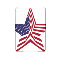 A Star With An American Flag Pattern Ipad Mini 2 Hardshell Cases
