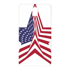 A Star With An American Flag Pattern Samsung Galaxy Note 3 N9005 Hardshell Back Case