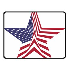 A Star With An American Flag Pattern Double Sided Fleece Blanket (small)