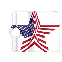 A Star With An American Flag Pattern Kindle Fire HDX 8.9  Flip 360 Case