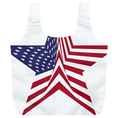 A Star With An American Flag Pattern Full Print Recycle Bags (l)