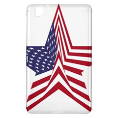 A Star With An American Flag Pattern Samsung Galaxy Tab Pro 8 4 Hardshell Case