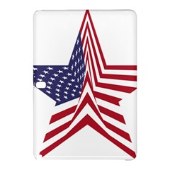 A Star With An American Flag Pattern Samsung Galaxy Tab Pro 12 2 Hardshell Case