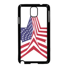 A Star With An American Flag Pattern Samsung Galaxy Note 3 Neo Hardshell Case (black)