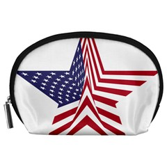 A Star With An American Flag Pattern Accessory Pouches (large)