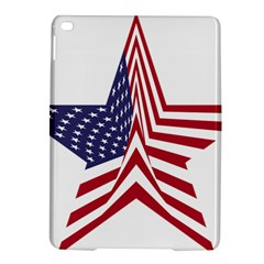 A Star With An American Flag Pattern Ipad Air 2 Hardshell Cases