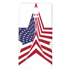 A Star With An American Flag Pattern Galaxy Note 4 Back Case