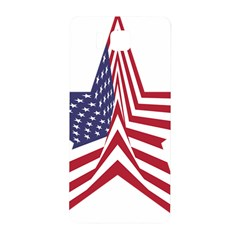 A Star With An American Flag Pattern Samsung Galaxy Alpha Hardshell Back Case