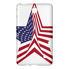 A Star With An American Flag Pattern Samsung Galaxy Tab 4 (7 ) Hardshell Case