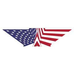A Star With An American Flag Pattern Satin Scarf (oblong)