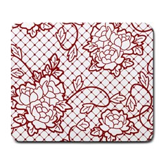 Transparent Decorative Lace With Roses Large Mousepads