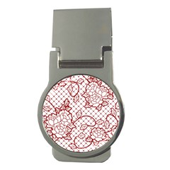 Transparent Decorative Lace With Roses Money Clips (round)