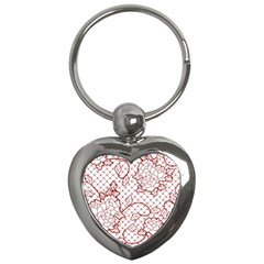 Transparent Decorative Lace With Roses Key Chains (heart)