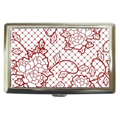 Transparent Decorative Lace With Roses Cigarette Money Cases