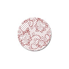 Transparent Decorative Lace With Roses Golf Ball Marker