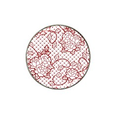 Transparent Decorative Lace With Roses Hat Clip Ball Marker (4 pack)