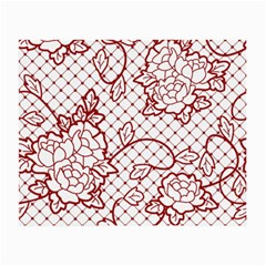 Transparent Decorative Lace With Roses Small Glasses Cloth