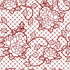 Transparent Decorative Lace With Roses Canvas 12  x 12