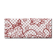 Transparent Decorative Lace With Roses Cosmetic Storage Cases