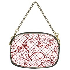 Transparent Decorative Lace With Roses Chain Purses (one Side)