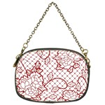 Transparent Decorative Lace With Roses Chain Purses (One Side)  Front