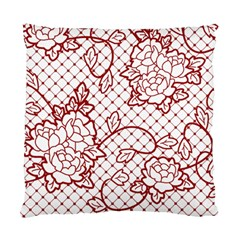 Transparent Decorative Lace With Roses Standard Cushion Case (one Side)