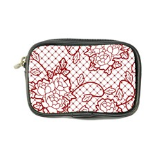 Transparent Decorative Lace With Roses Coin Purse