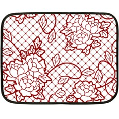 Transparent Decorative Lace With Roses Double Sided Fleece Blanket (mini)