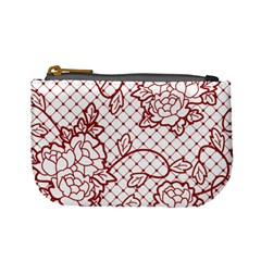 Transparent Decorative Lace With Roses Mini Coin Purses