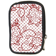 Transparent Decorative Lace With Roses Compact Camera Cases