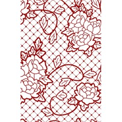 Transparent Decorative Lace With Roses 5 5  X 8 5  Notebooks